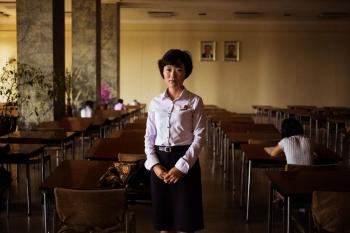 В пхеньянской библиотеке.
