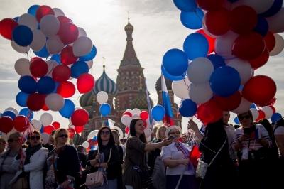 Москва. Демонстрация профсоюзов на Красной площади.