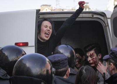 Санкт-Петербург. Полиция задержала участников акции геев.