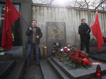 Митинг в честь 67-ой годовщины Февральской Победы в Праге